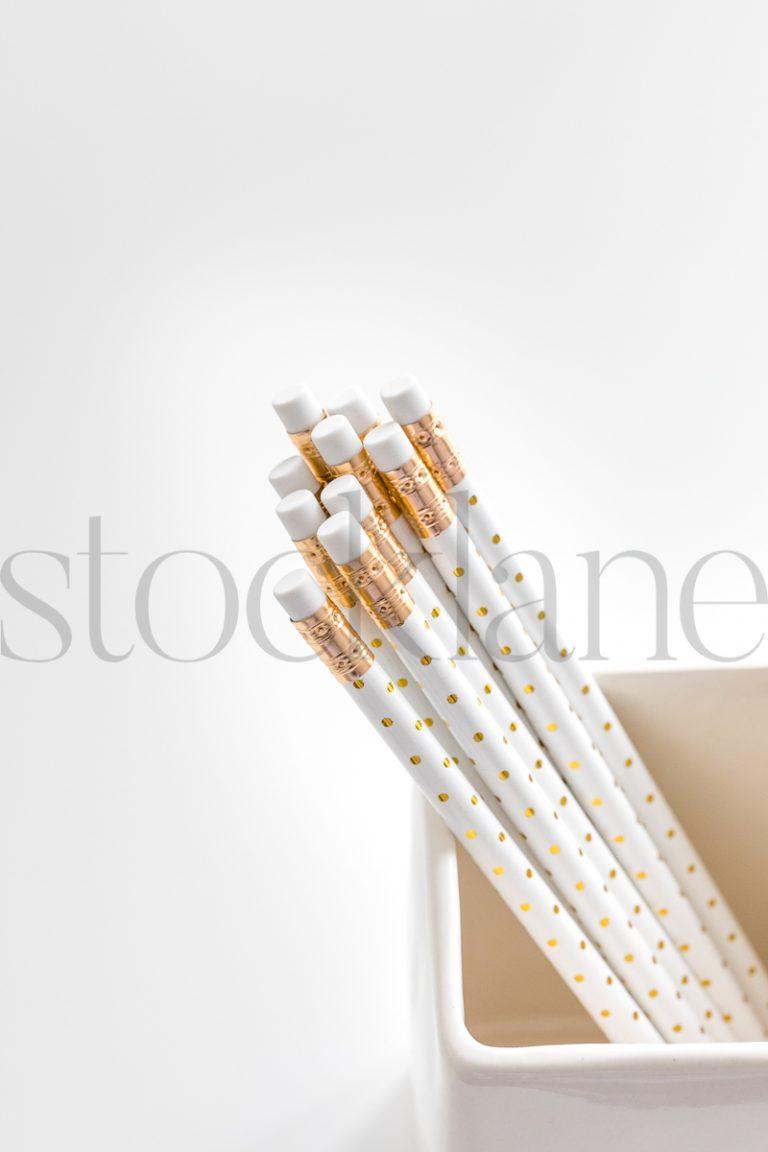 Vertical stock photo of pencils