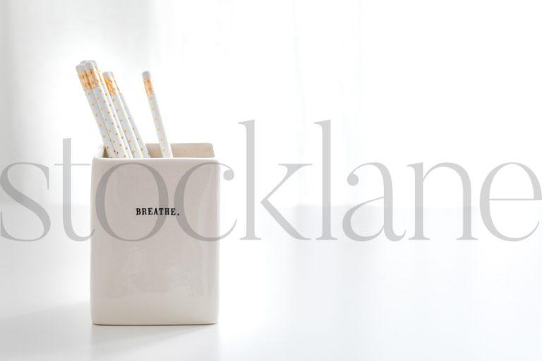 Horizontal stock photo of pencils