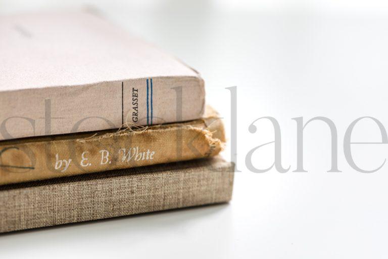Horizontal stock photo of books
