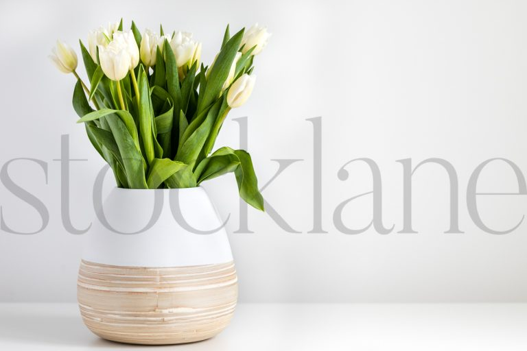 Horizontal stock photo of flowers in vase