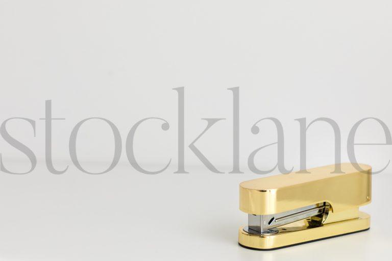 Horizontal stock photo of feminine desktop