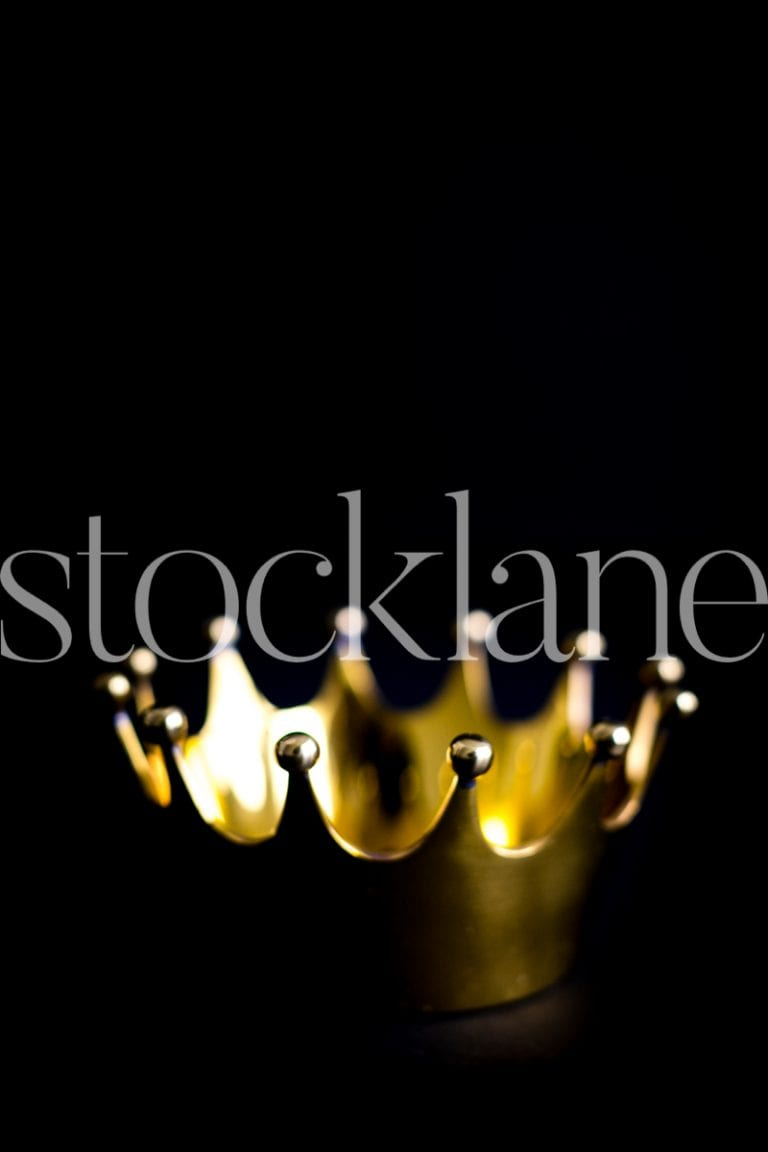 Vertical Stock photo of gold crown