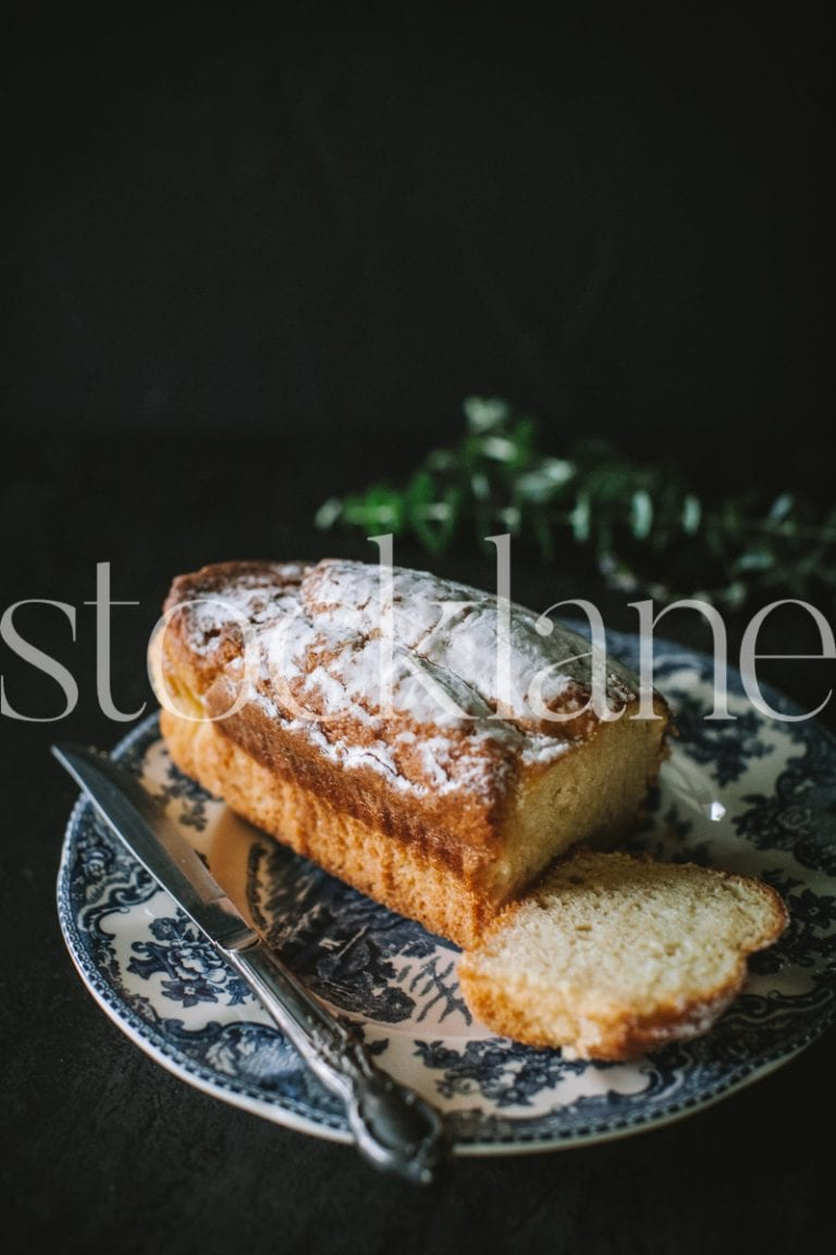 Vertical stock photo of coffee cake