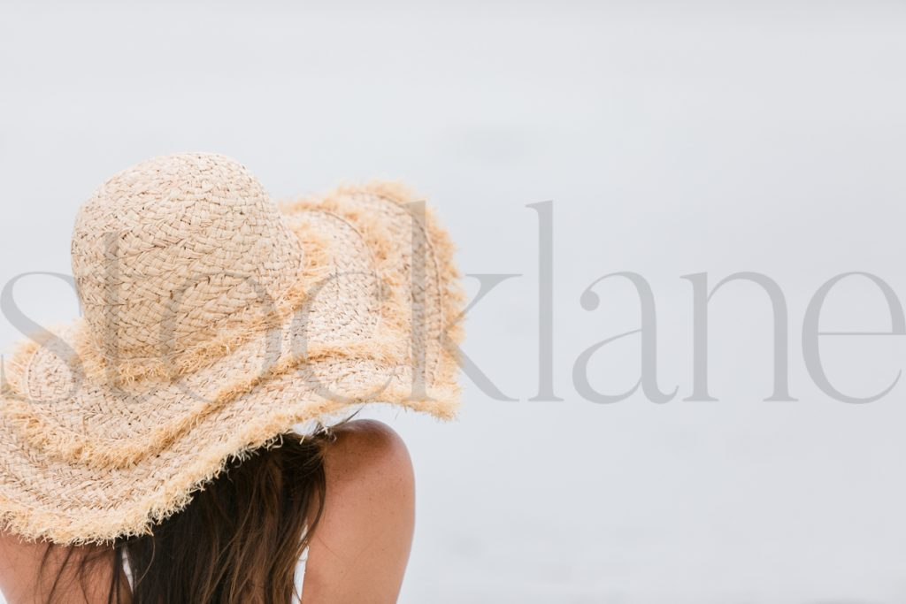 Horizontal stock photo of woman at the beach