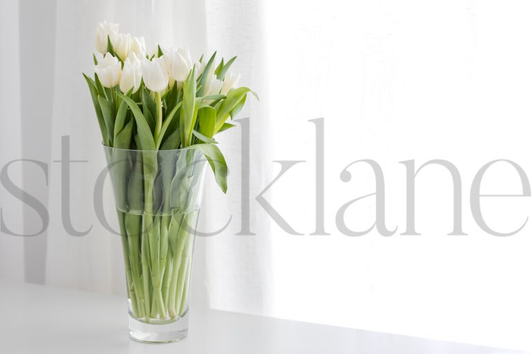 Horizontal stock photo of flowers in vase