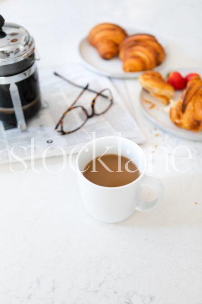 Vertical stock photo of breakfast setting