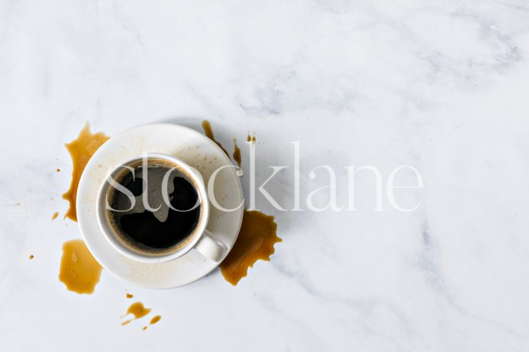 Horizontal stock photo of a coffee cup