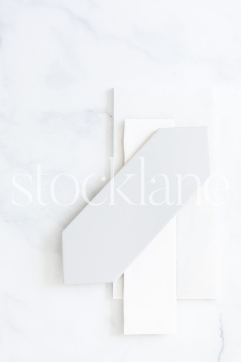 Vertical stock photo of tile samples