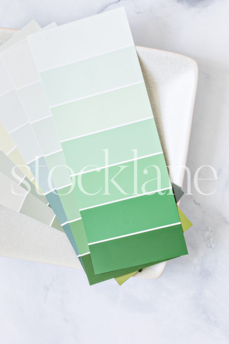 Vertical stock photo of color swatches