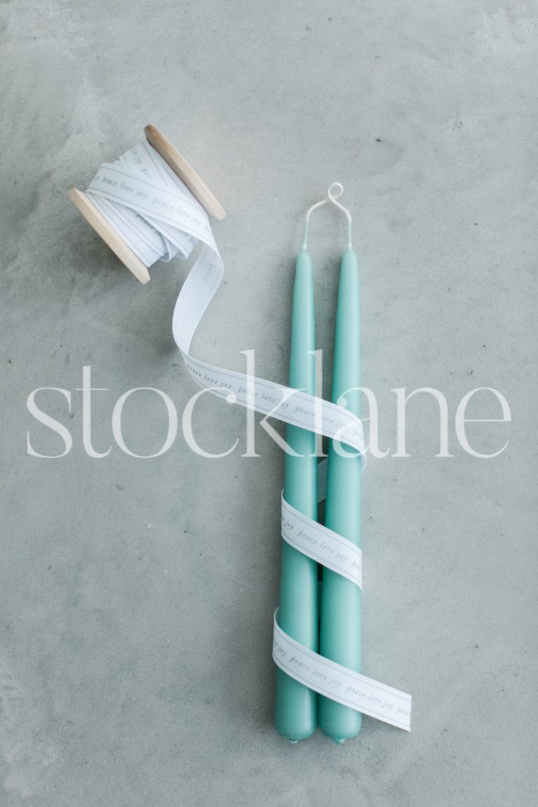 Vertical stock photo of Christmas candles.